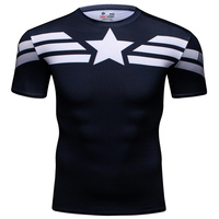 Captain America T Shirts Men Compression Shirts Body Engineers Fitness T Shirt Male Quick Dry MMA