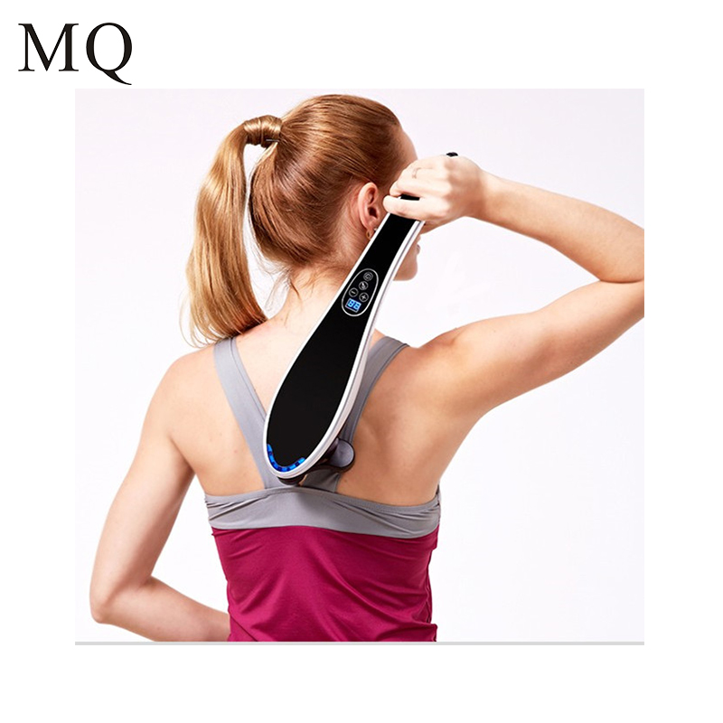 Electric Cervical Vertebra Massager Device Vibrating Kneading Shoulder Back Neck Massager infrared Shiatsu Body Relaxation multifunctional cervical vertebra massage device vibrating kneading shoulder back neck massager infrared massage body relaxation