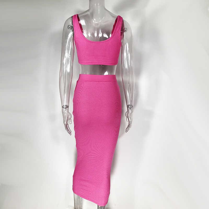 Newasia vestido longo rosa sem mangas, novidade de 2019, sexy, sem mangas, colado, para praia, resort, vestido apertado, para o verão