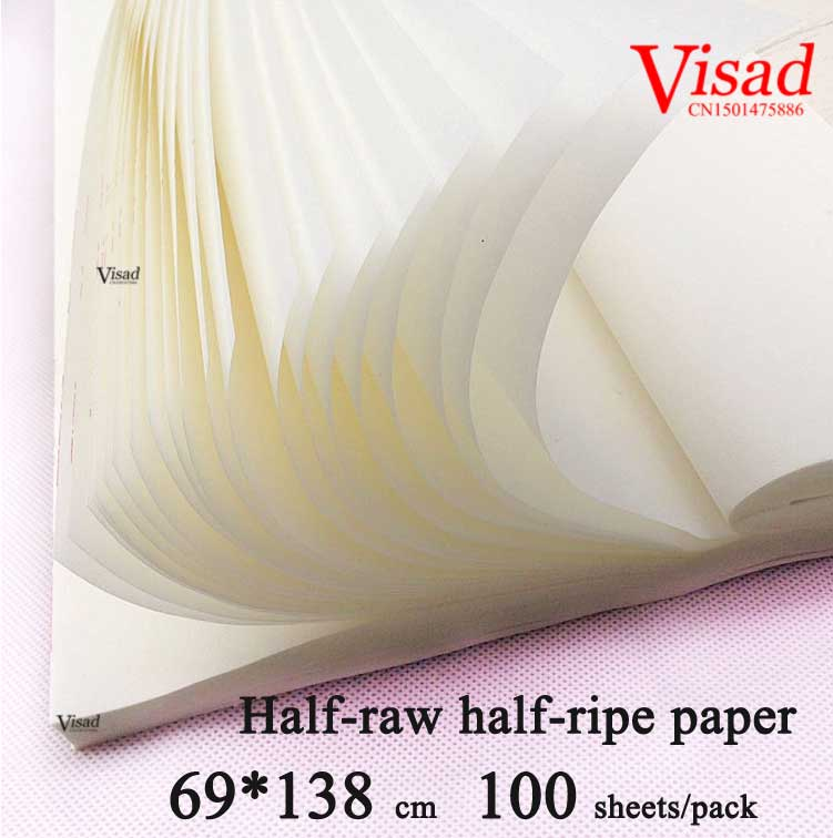 Chinese rice Paper for Painting Calligraphy paper art paper for Painting darwing supplies Half raw half
