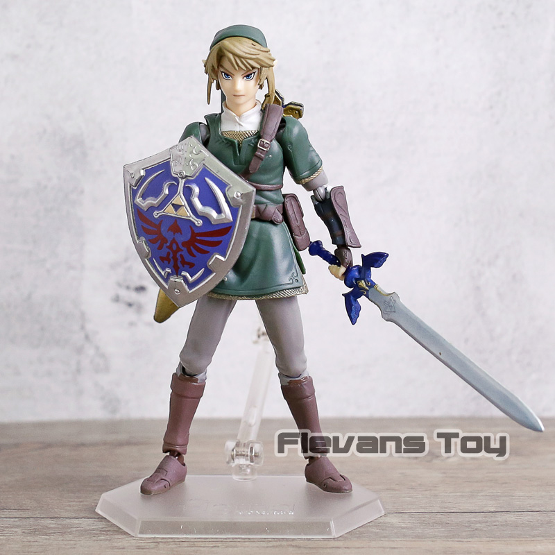 The Legend of Zelda Twilight Princess Figma #320 Link Deluxe Edition PVC Action Figure Movable Model Kids Toy Birthday Gift