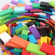 120/240/360 шт деревянные игрушки домино детей Цветной Радуга домино строительные блоки Наборы развивающие игрушки интерактивные игры
