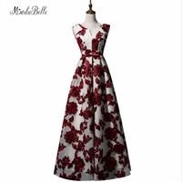 Modabelle Robe Dubai Plus Size Evening Dress 2017 Burgundy Women Cheap Long Evening Dresses Special Occasion