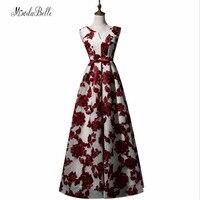 Modabelle Robe Dubai Plus Size Evening Dress 2017 Burgundy Women Cheap Long Evening Dresses Special Occasion Gowns Vestido Noche