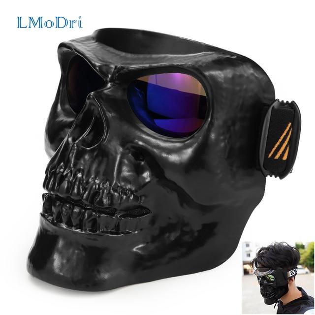 LMoDri Motorcycle Goggles Helmet Mask Outdoor Riding Motocross Skulls Windproof Wind Glasses Sandproof Goggle Kinight Equipment