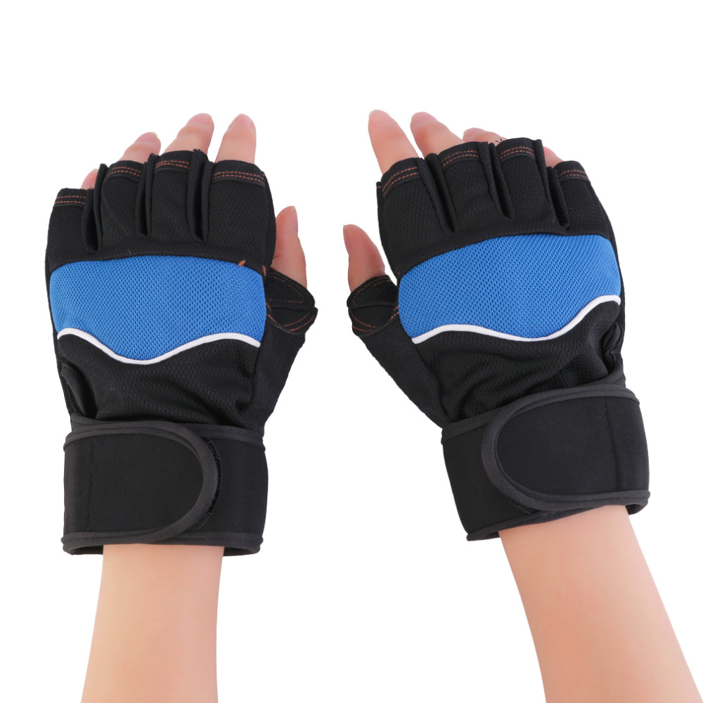 Fingerless gloves canada - Men S Fingerless Gloves For Fitness Body Building Moto Mitts Barbell Dumbbell Weightlifting Mittens Sports Female Gym