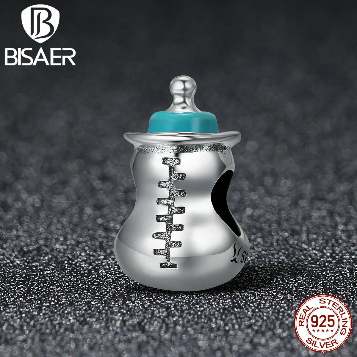 925 Sterling Silver Cute Milk Bottle Memory Baby Beads Fit Pan Charms Bracelet Authentic Original Bracelets Jewelry HSC361