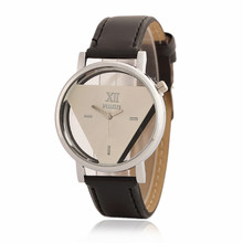2017 classic fashion trend creative woman quartz inverted triangle watch black and white simple