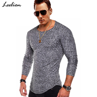 LeeLion 2018 Spring Striped T Shirt Men Long Sleeve Fitness T Shirt Fashion Solid Streetwear Men