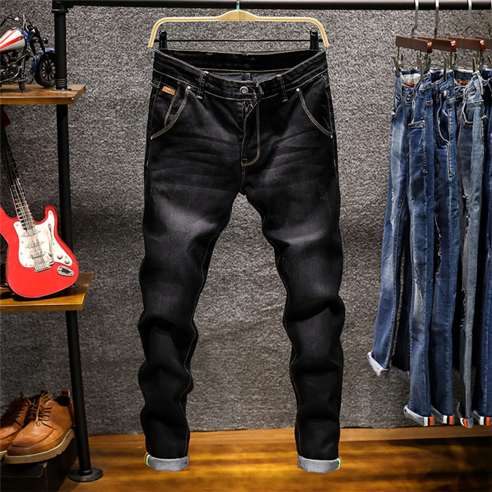 Skinny   Jeans   Men Zipper Fly Slim Fit Denim Joggers Stretch Male   Jean   Pencil Pants Blue Men's   Jeans   Fashion Casual Hombre,809