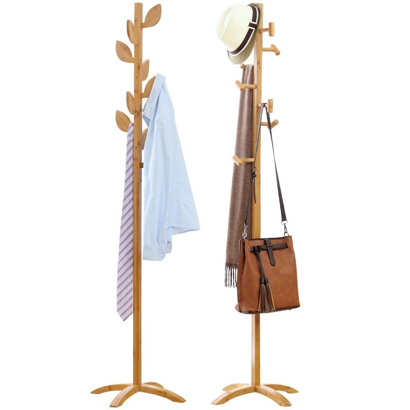 все цены на  Latest Style Coat racks Ground Bamboo Bedroom Dress Fashionable Clothes Hangers Simple Hanger Frame Hook Hanger  онлайн