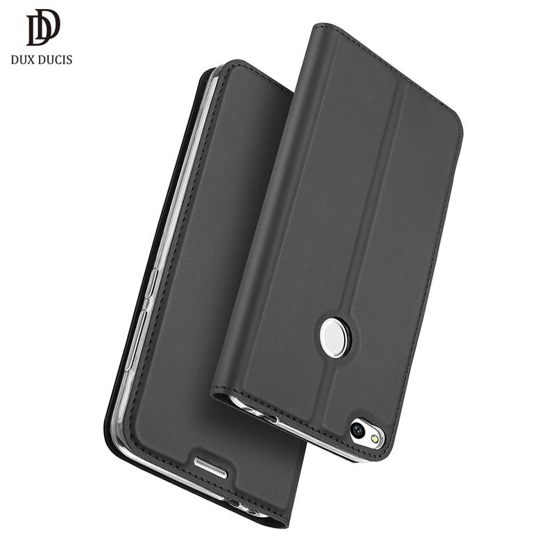 Huawei P9 Lite 2017 Cas De Luxe D'origine Flip En Cuir Portefeuille Cas de Téléphone de Couverture arrière Pour Huawei P9 Lite 2017 P9Lite or