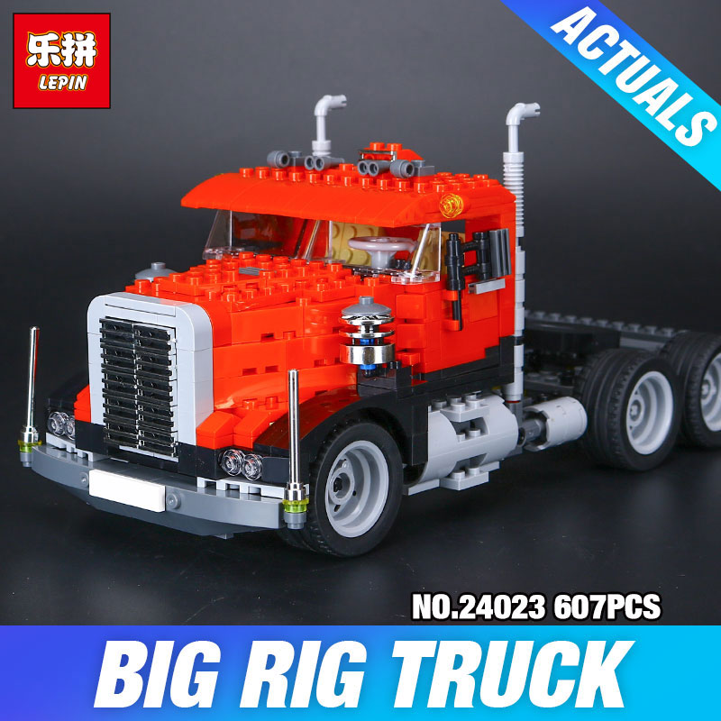 Lepin 24023 Creative Changing Series The Three in One Truck Set Children Educational Building Blocks Bricks Toys Model Gift 495 in stock lepin 02012 774pcs city series deepwater exploration vessel children educational building blocks bricks toys model gift
