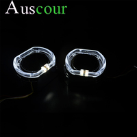 2pcs 3.0 inch 2.5 inch led day running angel eyes DRL bixenon Projector lens shrouds mask cover white blue yellow retrofit mask