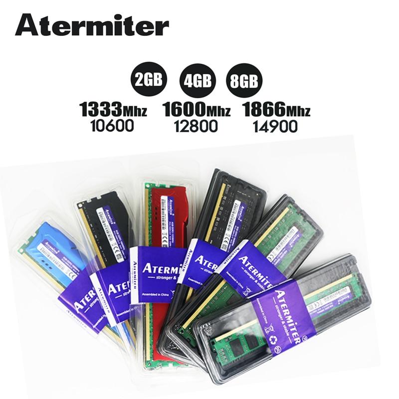 Nuovo 8 GB DDR3 1600 Mhz 1866 Mhz 1333 MHz PC3 PC Desktop DIMM di Memoria RAM 240 pin Per intel amd 8G 4G del radiatore 1866 1600 1333