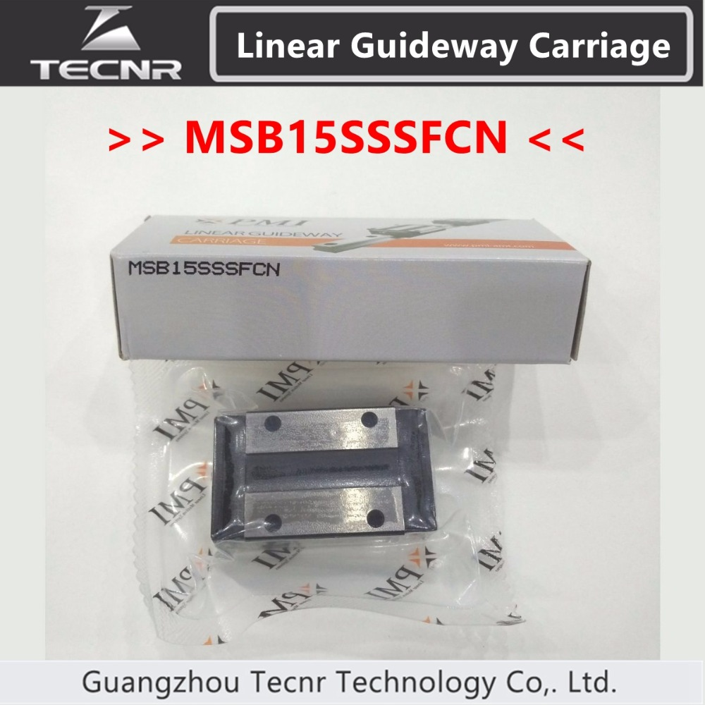 Taiwan PMI linear guideway slider carriage block MSB15S MSB15SSSFC slider for CO2 laser machine large format printer spare parts wit color mutoh lecai locor xenons block slider qeh20ca linear guide slider 1pc