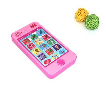 Huan qiu xin mao Baby educational simulationp kids music mobile phone Childrens toys Russian language