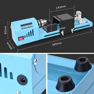 Image 5 - Mini bricolage 150W tour à bois perle Machine de découpe perceuse polissage travail du bois fraisage outil