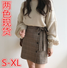 2018 NEW  Fashion Summer Women Skirt black Plaid Sexy High Waist A-line OL Office Lady Casual Mini  Skirts