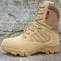 2016 Зимний мужской Открытый Натуральная Кожа Пустыни Армии Боевой Снегоступы Мужчины Тактика Военные Ботинки Обувь Botas Хомбре