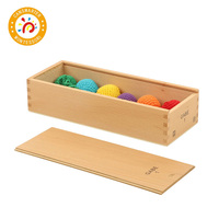 Baby Kids Toy Froebel GABE 1 Wood Colorful Understanding Color Shapes Hair Ball Learning Educational Preschool Training