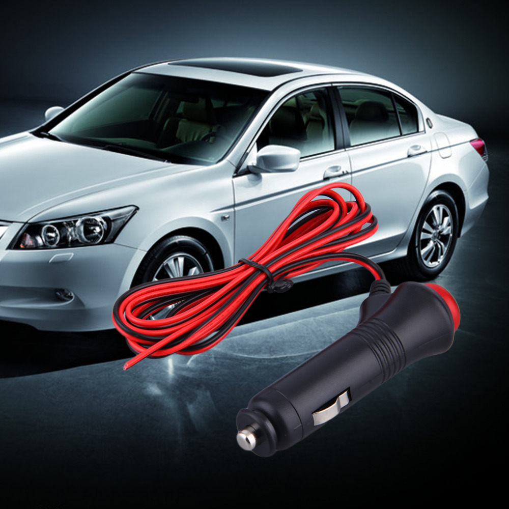 1pcs Switch 12V 24V Male Car Cigarette Lighter Socket Plug Connector On Off Switch 1.5m  ...