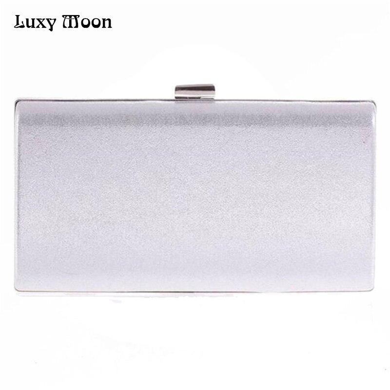 Luxy Moon solid clutch bags fashion silver evening bag black clutches bolsa feminina wedding purse chains handbag women bag цены