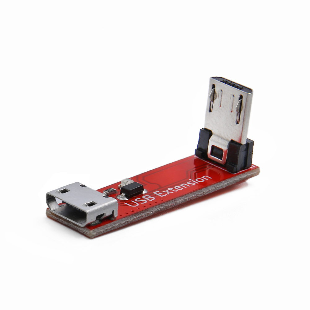 90 Degree L Type Right Angle Micro USB Transfer Extension Module Cable Female To Male For RC Drone
