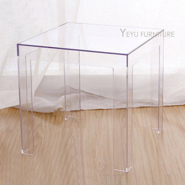 Online Shop Minimalist Modern Design Transparent Polycarbonate PC Acrylic  Clear Square Side Table Coffee Table Tea Table Simple Design Table |  Aliexpress ...