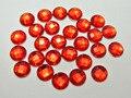 250 красный акриловый плоский задник граненый круглый горный хрусталь Драгоценные камни 8 мм без отверстия