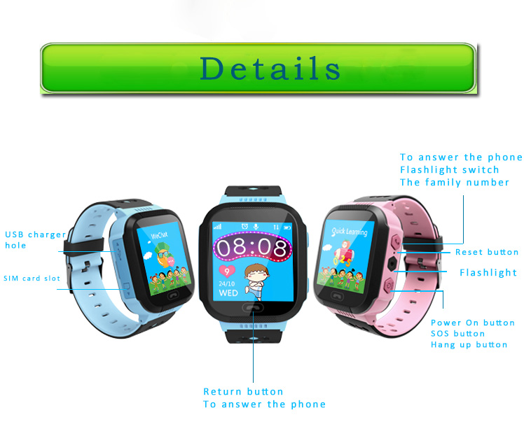 MOCRUX Q527 Smart watch Children Kid Wristwatch SOS GSM Locator Tracker Anti-Lost Safe Smartwatch Child Guard for iOS Android (16)