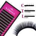 1 Case All Size JBCD eyelash extensions mink black fake false eyelashes curl