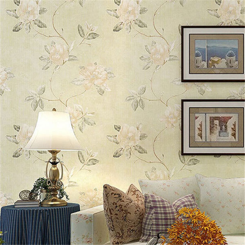 Flowers Wall Wallpapers Design For Your Bedrooms Decorating: Beibehang Fresh Country Romantic Wedding Room Decor