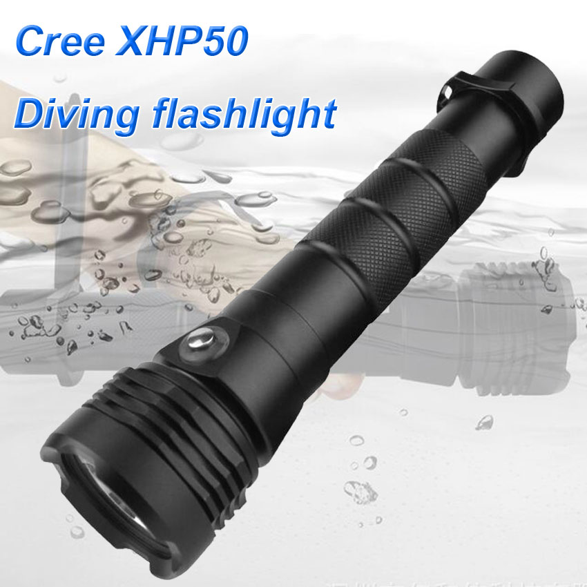 2019 New Professional Scuba Dive XHP50 Diving Flashlight torch lantern 2600 lumens Outdoor underwater 80M diving