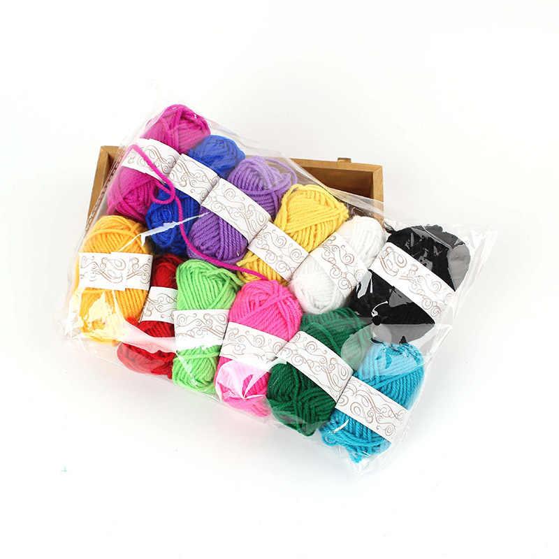 Fil de coton coloré peigné pour bébé | Fil en Fiber de velours, laine tricotée à la main, fil Crochet pour bricolage, 12 rouleaux