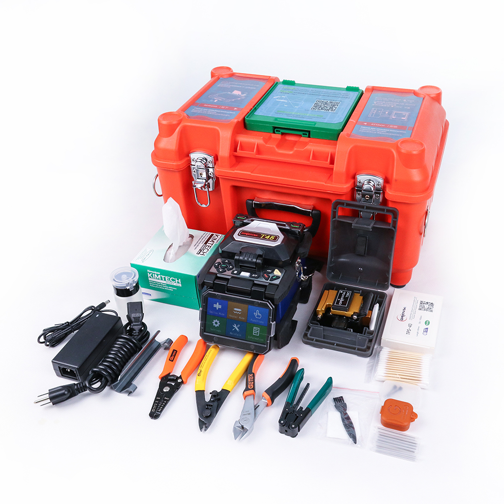 Orientek T45 Empalmadora De Fibra Optica Fiber Optic Splicers splicing machine