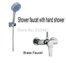Латунь ванной душ кран хромированная с 5-Function душем бесплатная доставка