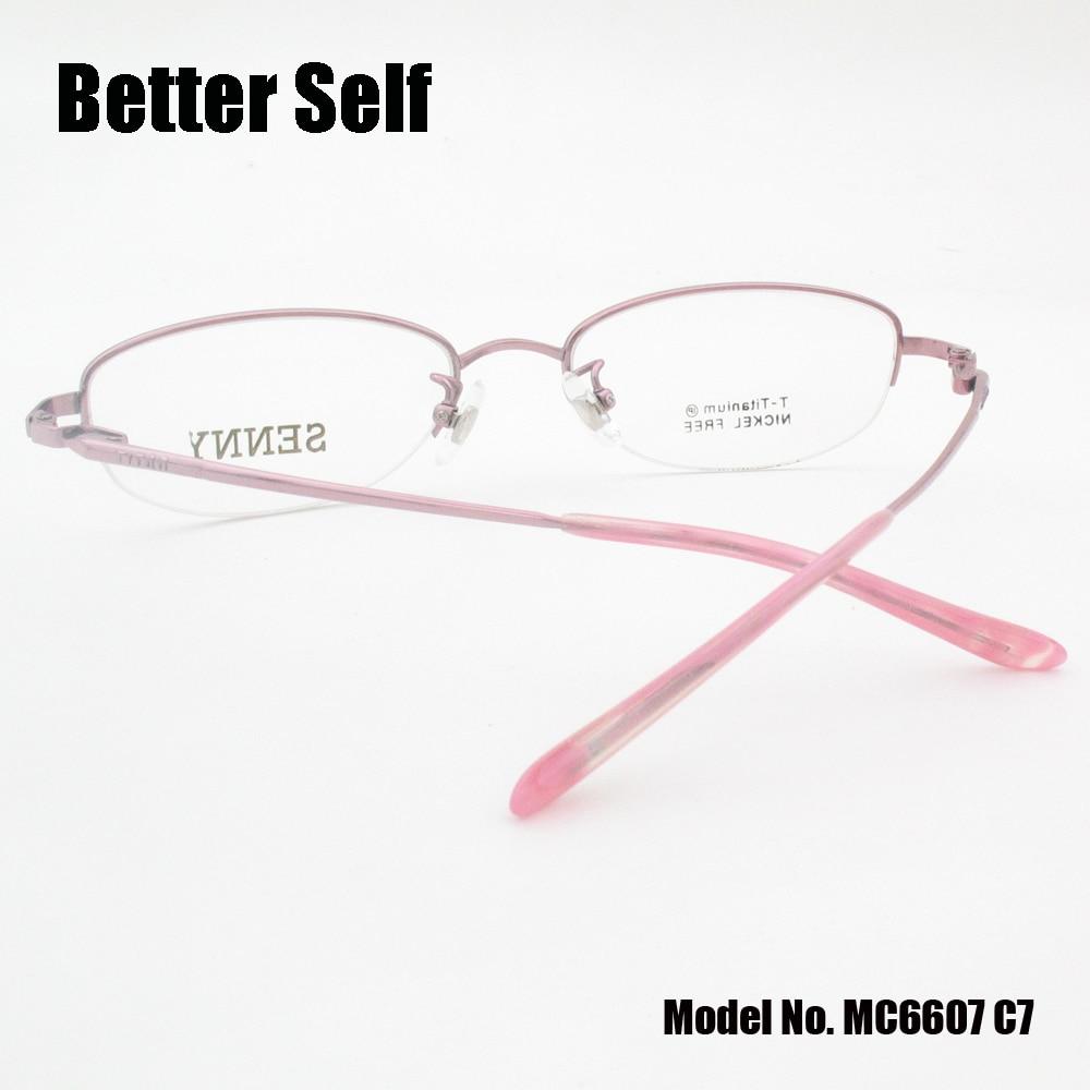 Rahmen Qualität Myopie Besser Brillen Reinem Rot Brille Mc6607 Vintage Frauen Titan Selbst rosa purpurrot Oval 0aaEgvq