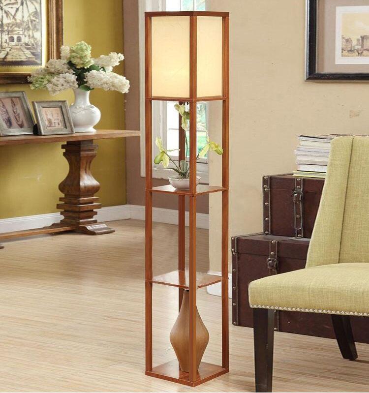 Living Room Standing Lamp Old Decorating Ideas Chinese Style Floor Lamparas De Pie Vertical Wooden Light For Indoor Lighting In Lamps From Lights On