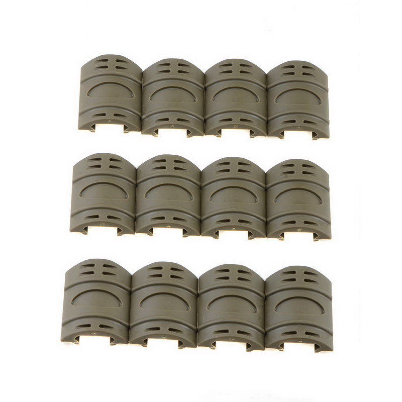 12pcs Tactical Weaver Picatinny Rubber Handguard Quad Rail Covers Protect VEH30 T16 0.5(China)