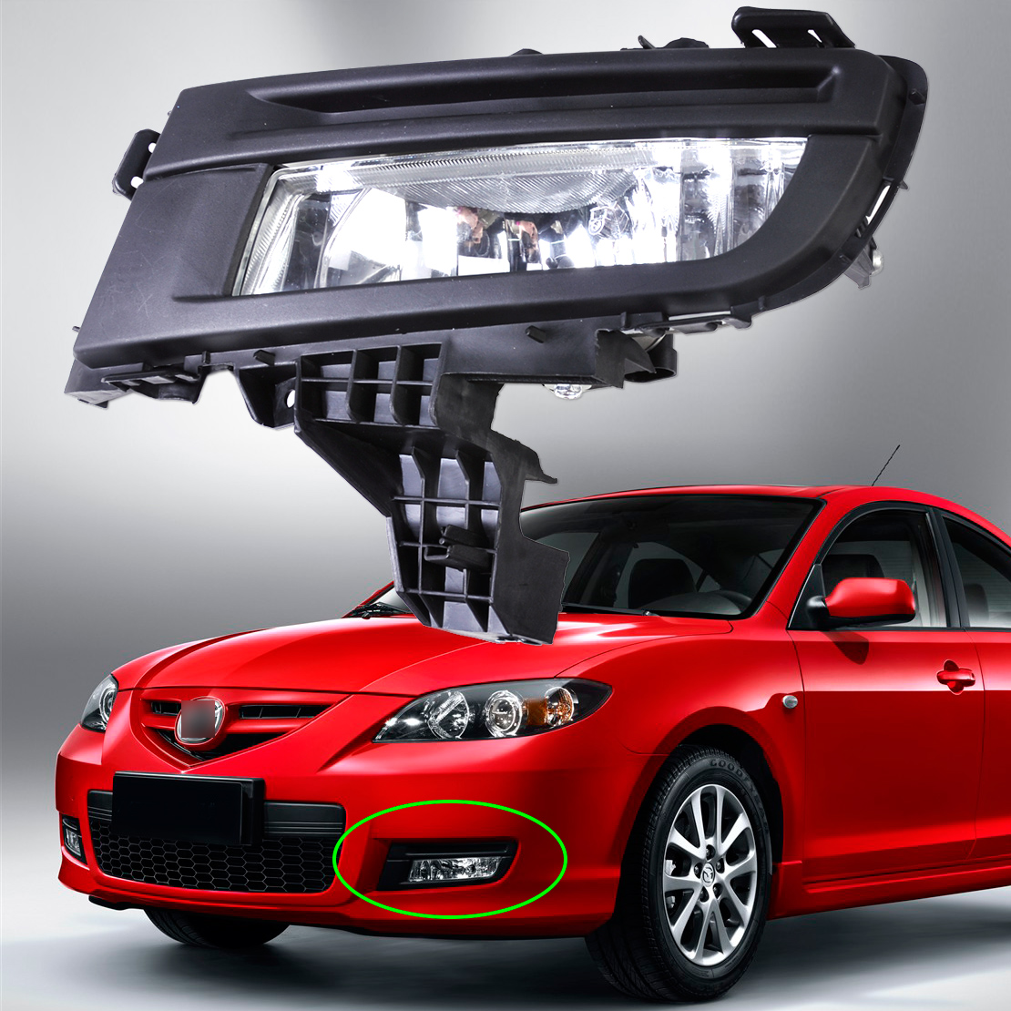 beler  New high quality ABS plastic New Front Left Fog Light Lamp 9006 12V 51W Replacement MA2592113 for Mazda 3 2007 2008 2009 beler new high quality abs plastic new front left fog light lamp 9006 12v 51w replacement ma2592113 for mazda 3 2007 2008 2009