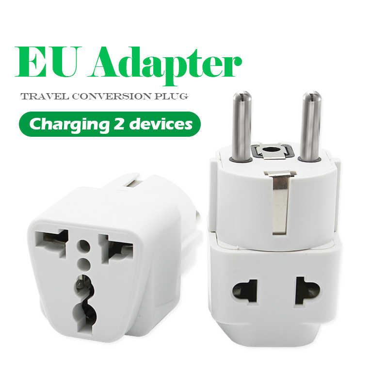 1 PC europejski Adapter wtyczki ue wysokiej jakości praktyczne uniwersalny US w wielkiej brytanii do ue wtyczka podróżna zasilacz ładowarka elektryczna gniazda