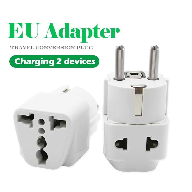 1PC European EU Plug Adapter High Quality Practical Universal US UK AU To EU Plug Travel Power Adaptor Electric Charger Sockets