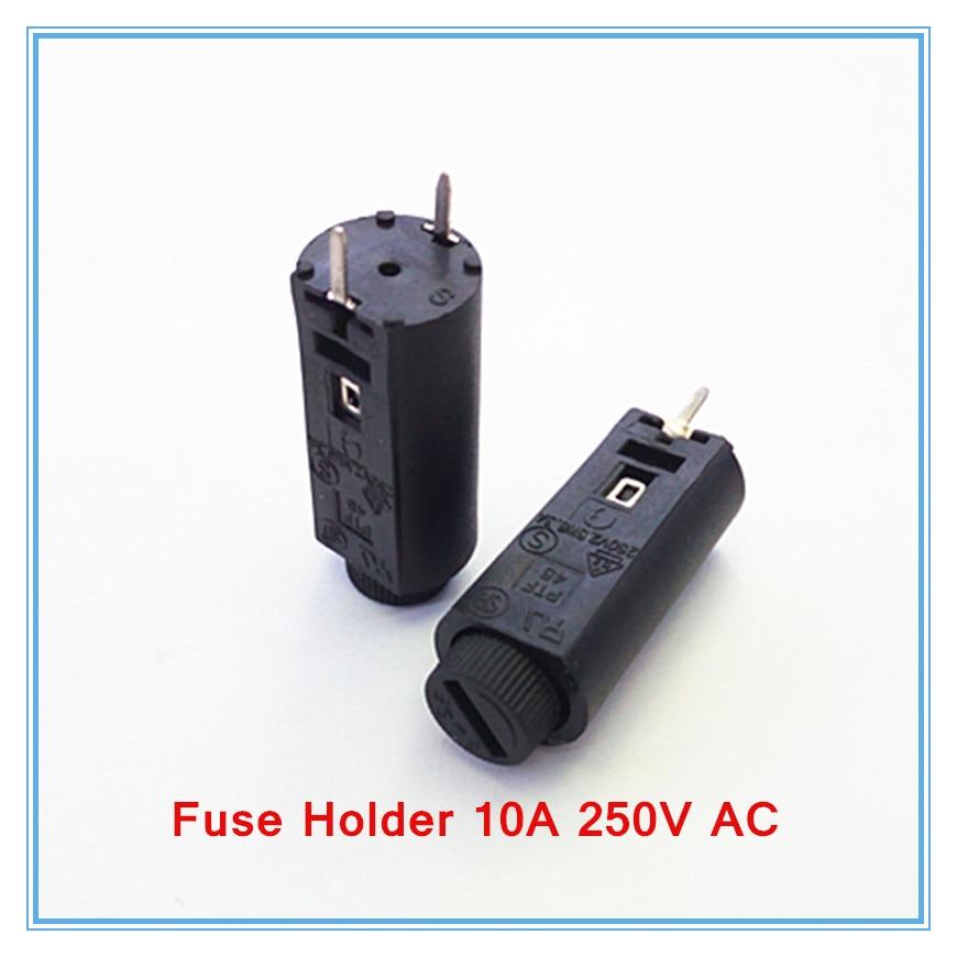 100 unids/lote 5*20mm fusible de vidrio de 5x20 negro seguros tubo hembra soporte de fusible 10A 250 V CA.-in Componentes para fusibles from Mejoras para el hogar on AliExpress - 11.11_Double 11_Singles' Day 1