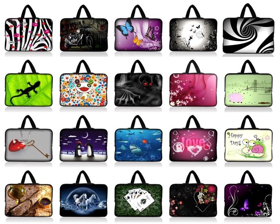 "14"" 14.1""14.4"" Neoprene Laptop Soft Carrying Bag Sleeve Case Cover Holder Notebook Bag+Hide Handle For HP Dell Acer Laptop"