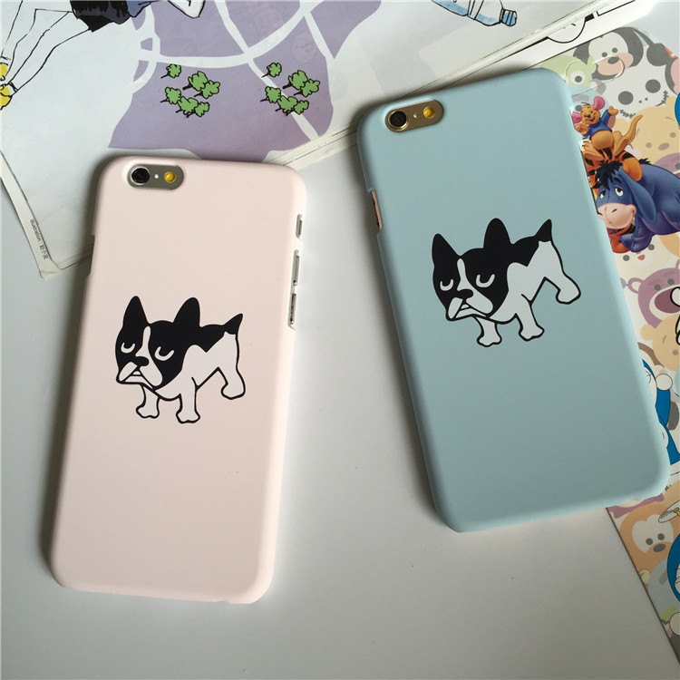 Promotion Sale For Apple Iphones Cute Dog Hard Pc Rubber Phone Case For Iphone 5 5s 6 6s Plus Acrylic Transparent Back Cover