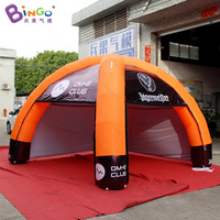 Promotional 5X3.6X2.5 Meters inflatable tent for advertising customized logo blow up spider tent for commercial show toy tent