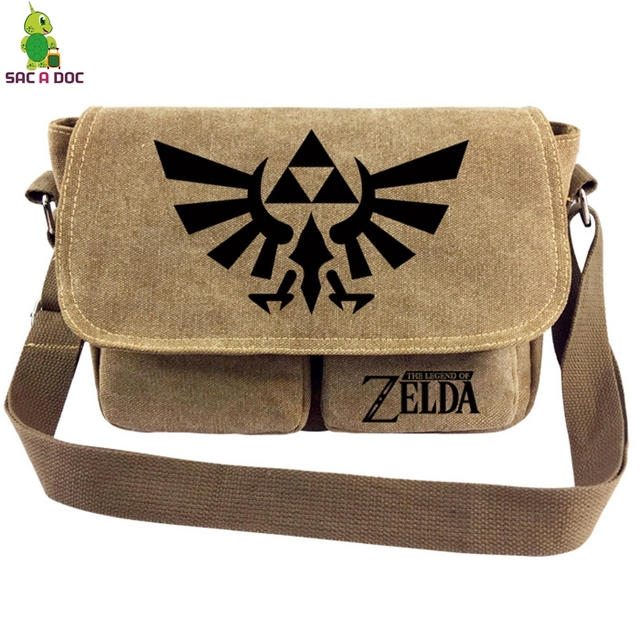 76b7a3d8fd46 The Legend of Zelda Link Messenger Bag Women Men Vintage Canvas Shoulder  Bag Boys Girls Students