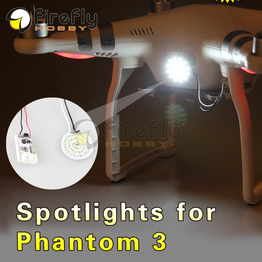 Ultra-light LED Circle Head Light Lamp Night Light Spotlight with Depressurization Module Accessory for DJI Phantom 3