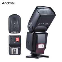 Andoer AD 560II Camera Flash Universal GN50 Flash Speedlite w/ Adjustable LED Fill Light + 16 Channels Wireless Remote Trigger